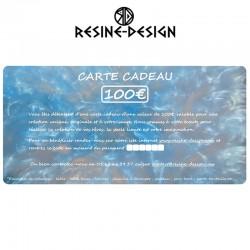Carte cadeau d'une valeur de 100€ sur tous les produits de la boutique Resine Design ou pour une création unique et sur mesure.